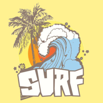 RETRO SURF - PREMIUM S/S T-SHIRT - BANANA CREAM Design